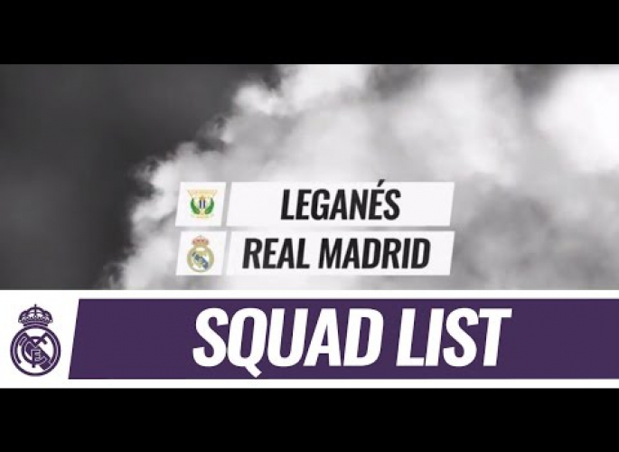 Embedded thumbnail for A Real Madrid 19 fős kerete a Leganes ellen
